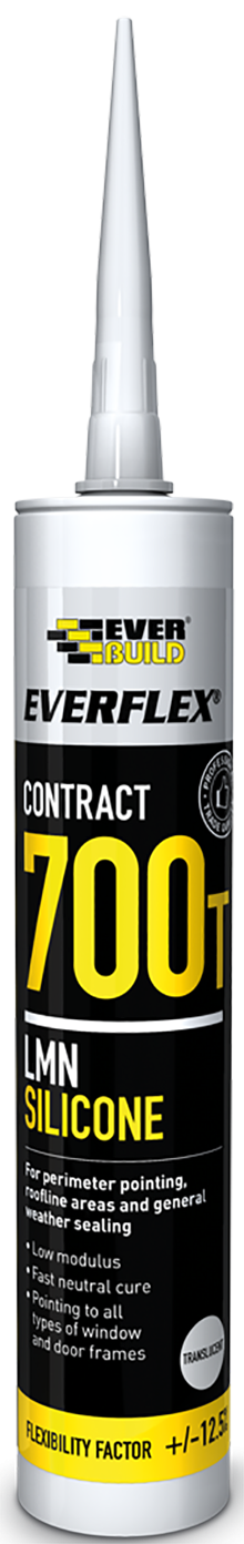 Everbuild Everflex 700T Silicone Sealant (Box 25)