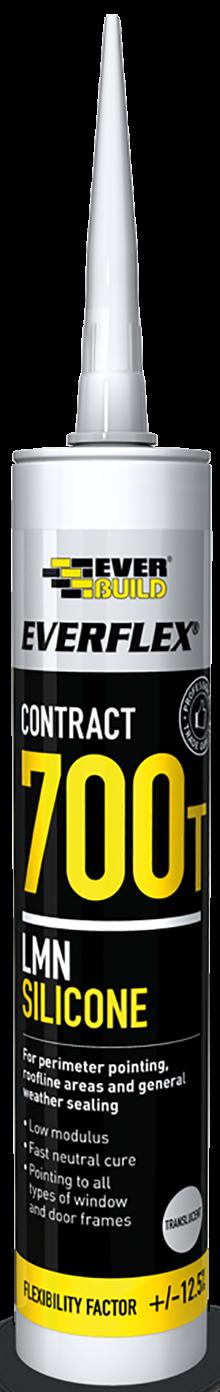 Everbuild Everflex 700T Silicone Sealant (Box 25)