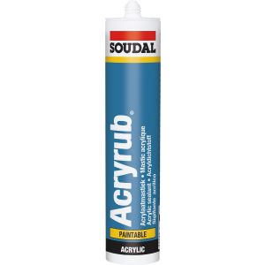 Soudal Acryrub Extra White 310ml Box 24