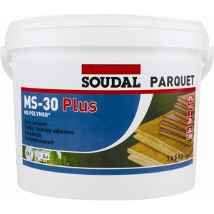 Soudal MS-30 Plus - Parquet Adhesive 16kg (6 tubs minimum)