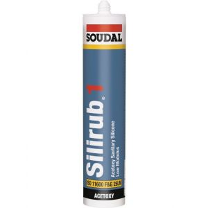 Soudal Silirub 1 Universal Sanitary Sealant White - Expired Stock