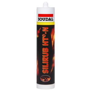 Soudal Silirub HT-N High Temperature Silicone Sealant