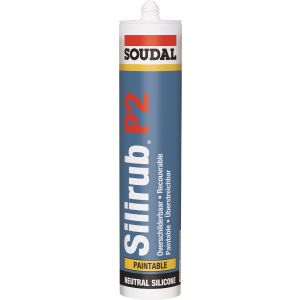 Soudal Silirub P2 - Overpaintable Sealant Neutral Cure
