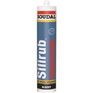 Soudal Silirub Cleanroom. Sealant for Hospitals, Labs, Food Areas